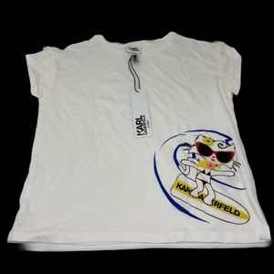 KARL LAGERFELD**Girls Tassel Shirt**Size 10 $225